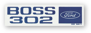 BOSS 302 VALVE COVER DECALS